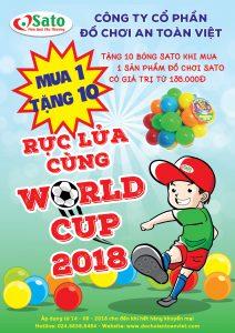Rực Lửa Cùng World Cup 2018_Mua 1 tặng 10 cùng Đồ chơi Sato