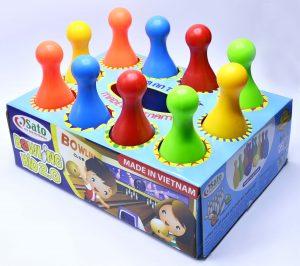 Thương hiệu Chất liệu Màu sắc Độ tuổi Số chi tiết Xuất xứ   SATO Nhựa nguyên sinh Đỏ, da cam, vàng, xanh lá, xanh dương 3+ 12 Việt Nam