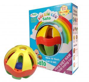 Thương hiệu Chất liệu Màu sắc Độ tuổi Số chi tiết Xuất xứ   SATO Nhựa nguyên sinh Đa màu >3 tháng tuổi  Việt Nam