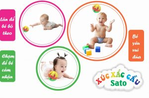 Khi bé bắt đầu tập bò nên cho bé chơi những món đồ chơi như thế nào?