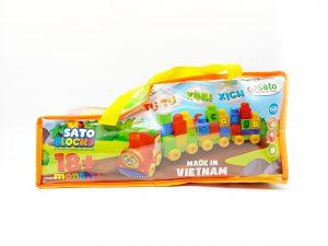 Thương hiệu Chất liệu Màu sắc Độ tuổi Số chi tiết Xuất xứSATO Nhựa nguyên sinh PP Nhiều màu 18 tháng + 60 Việt Nam